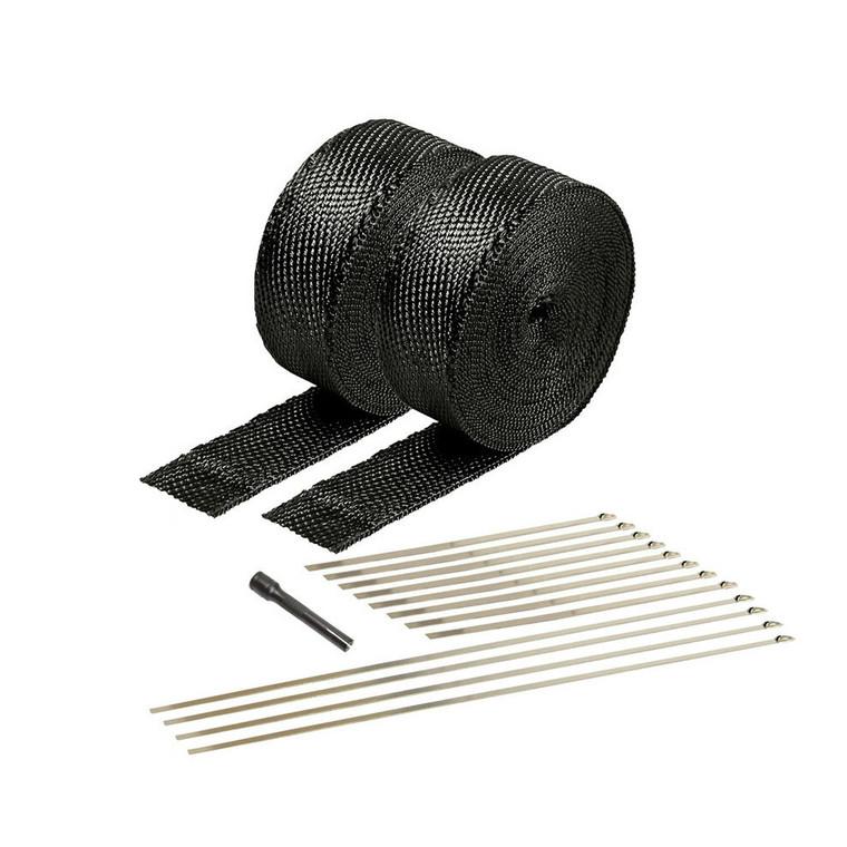 DEI Black Titanium Exhaust and Pipe Wrap Kit