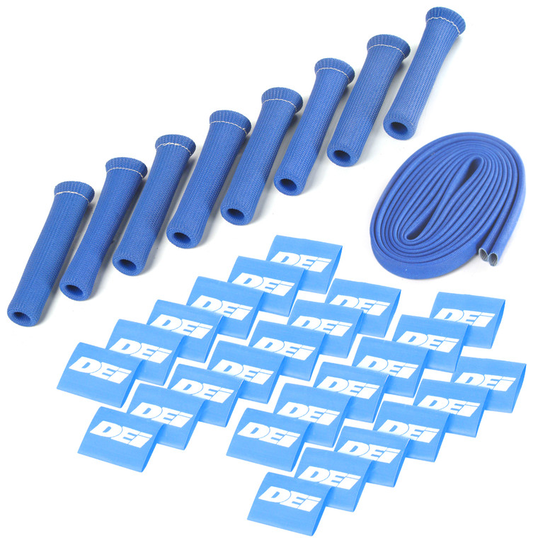 Protect-A-Boot™ and Wire Kit - Blue 8 Cylinder