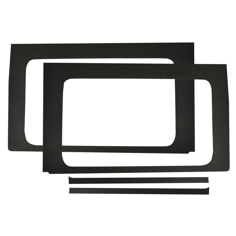 Wrangler JL 4-Door - Black Leather Look Rear Side Window Only