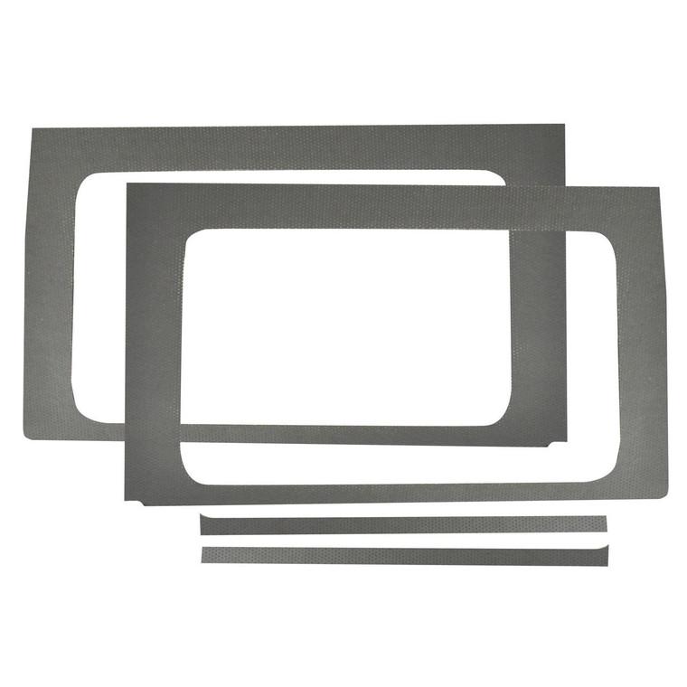 Wrangler JL 4-Door - Gray Leather Look Rear Side Window Only