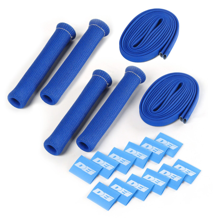 Protect-A-Boot™ and Wire Kit - Blue 4 Cylinder