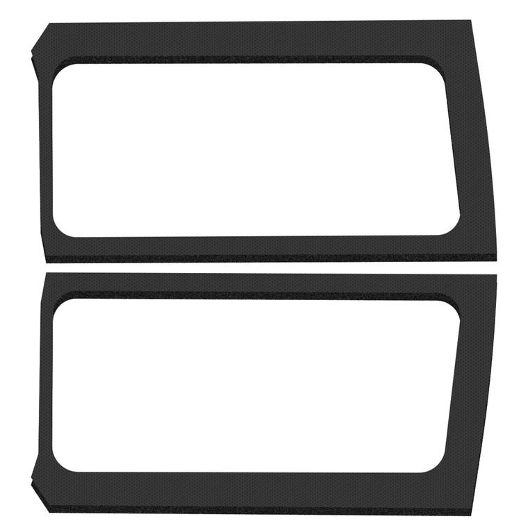 Wrangler JL 2-Door - Black Leather Look Rear Side Window Only