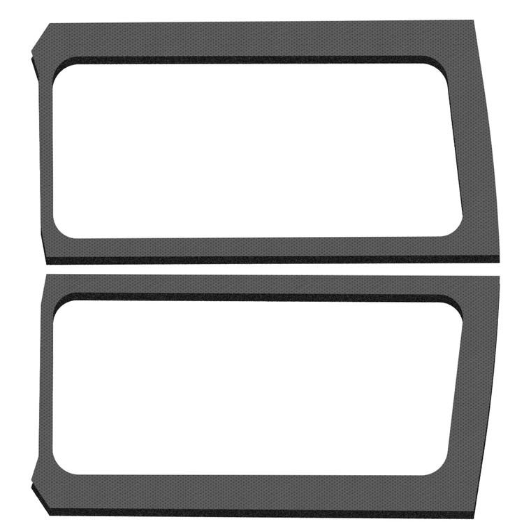 Wrangler JL 2-Door - Gray Leather Look Rear Side Window Only