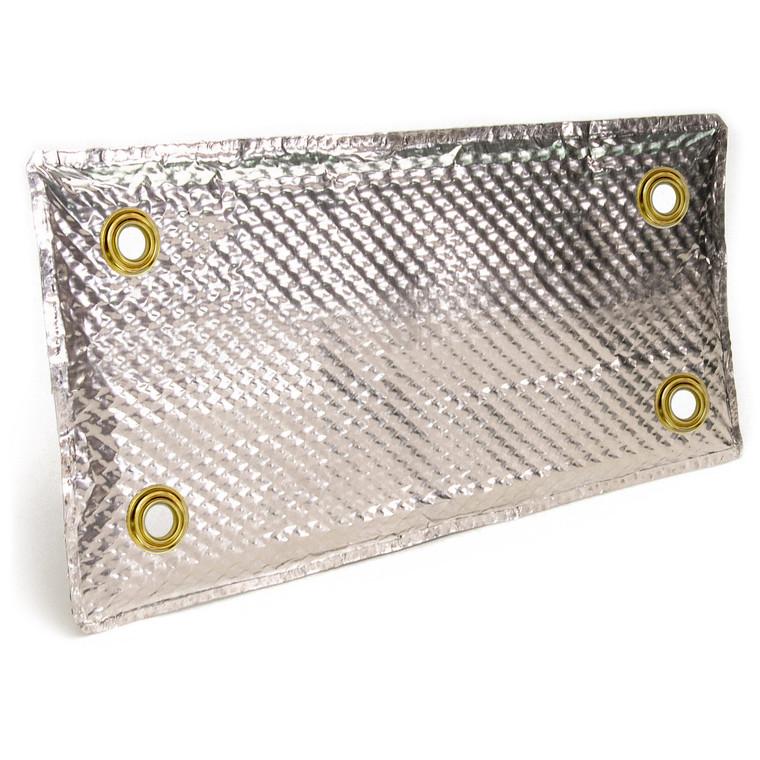 "Stainless Steel Heat Shield Pad - 4"" x 8"""