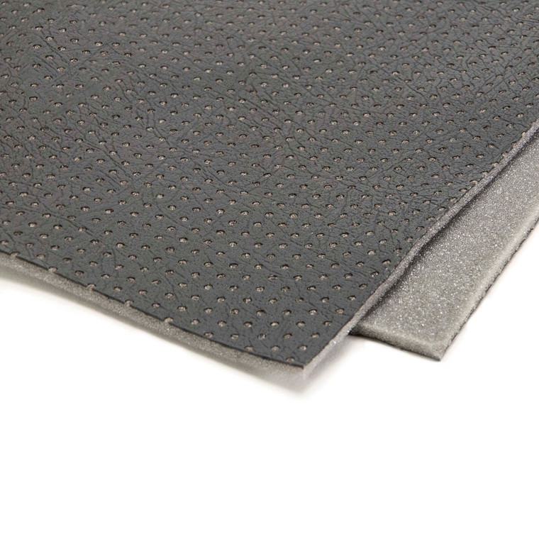 """Universal Upholstery Material - Black Leather Look 54"""" x 75"""""""