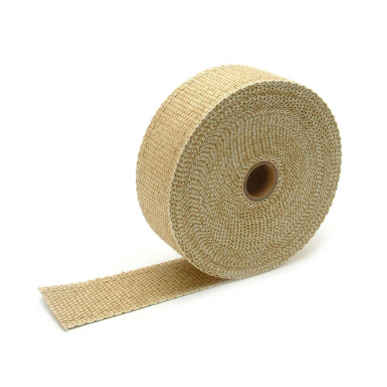 "Tan Glass Fiber Exhaust Wrap - 2"" x 25'"