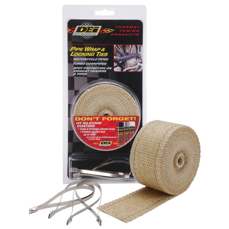 Tan Pipe Wrap & Locking Ties Kit
