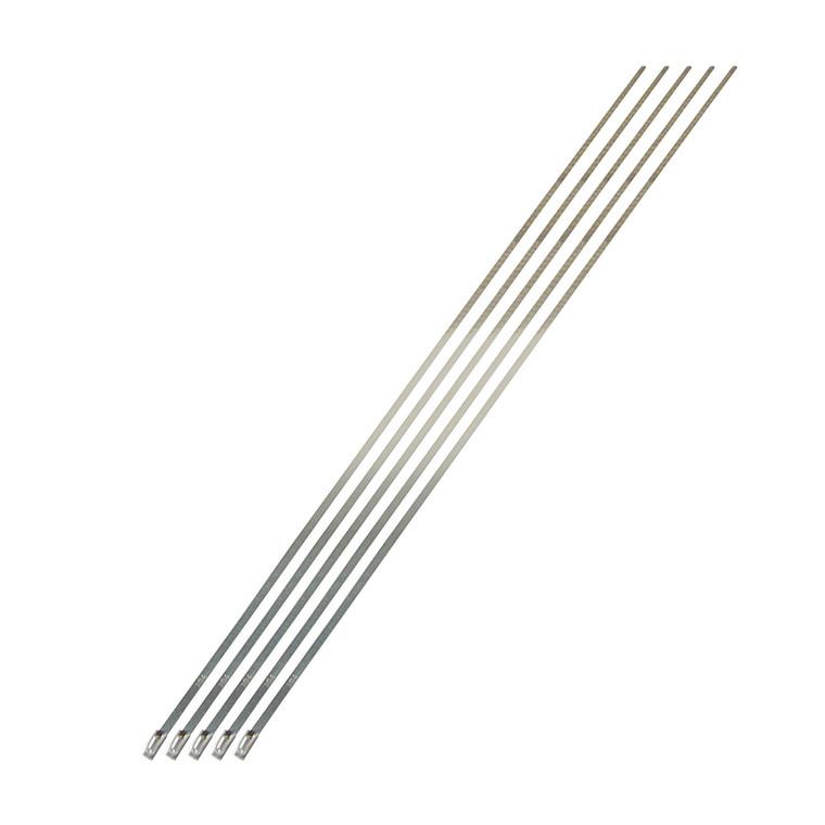 """Stainless-Steel Locking Ties - 14"""" 5-Pack"""