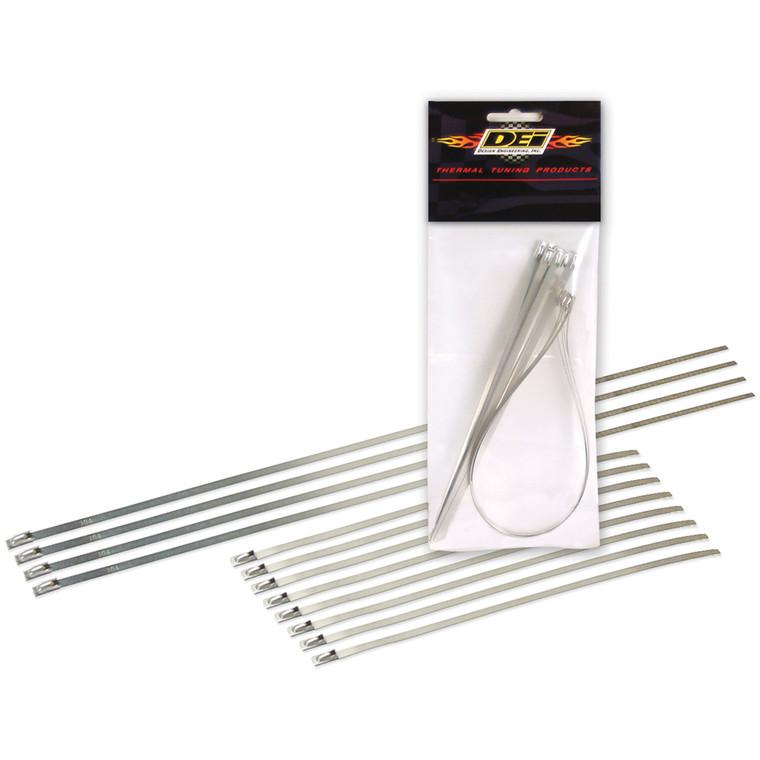 """Stainless-Steel Locking Ties - 8"""" + 14"""" Pack"""