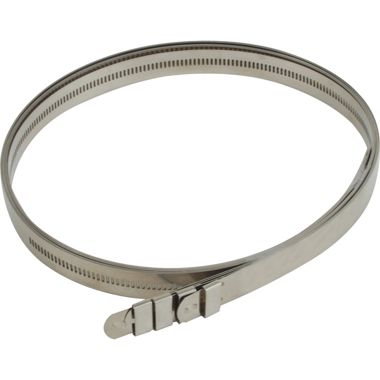 """Stainless-Steel Positive Locking Ties - 12mm x 40"""" (4-Pack)"""