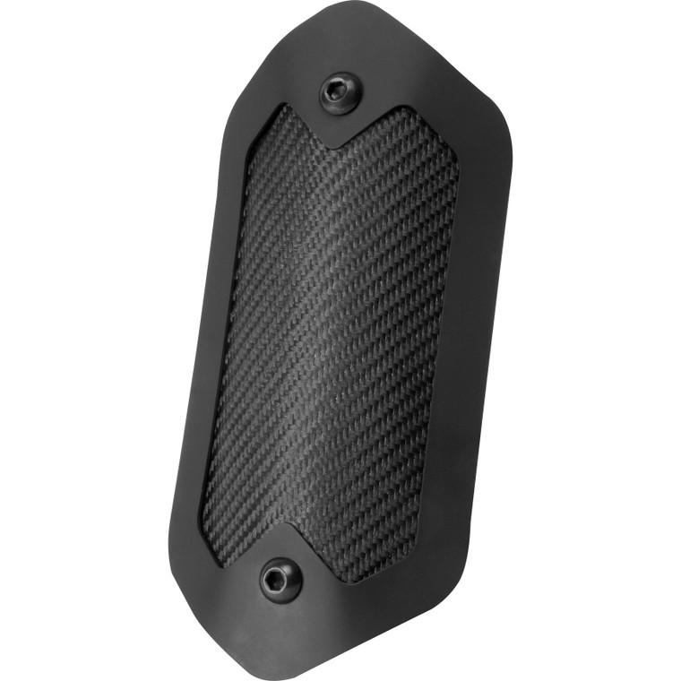 "Onyx Flexible Heat Shield with Black Trim Ring - 3.5"" x 6.5"""