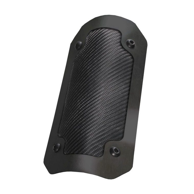 "Onyx Flexible Heat Shield with Black Trim Ring - 4"" x 8"""