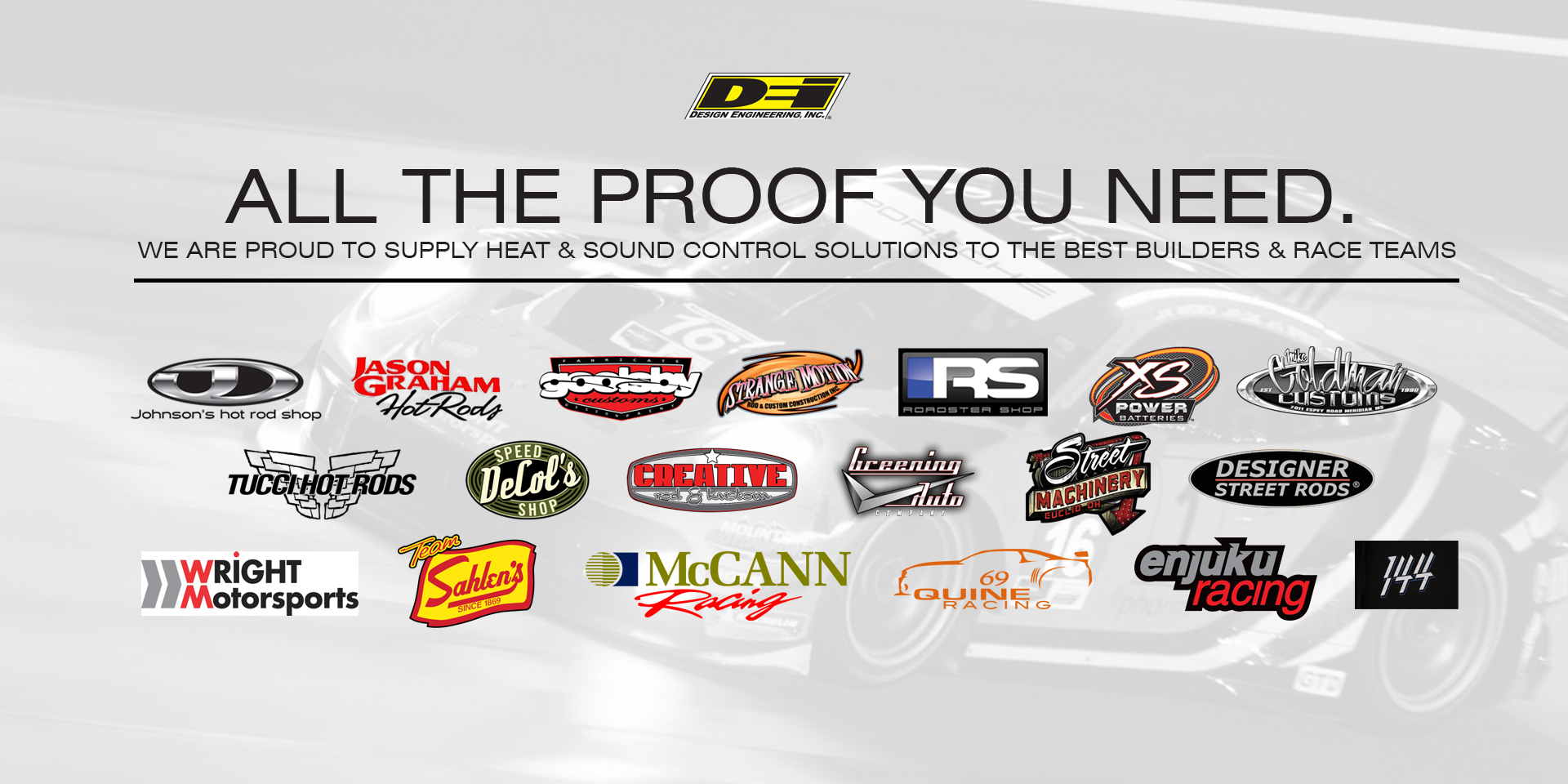 Proud to supply the best builders and race teams
