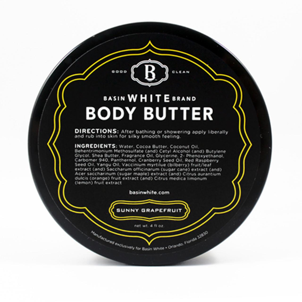 Sunny Grapefruit Body Butter (Basin White)