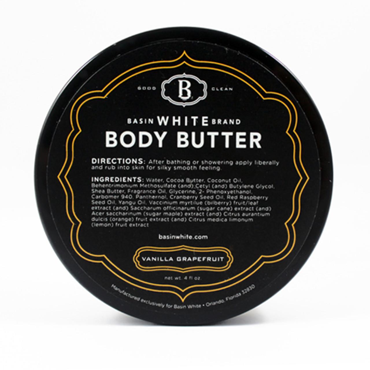 Vanilla Grapefruit Body Butter (Basin White)