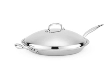 Heritage Steel 13.5 inch French Skillet with Lid