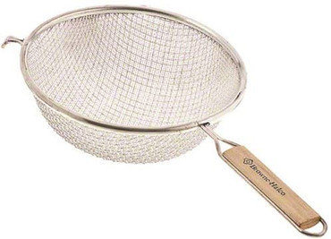 Browne 10.25 Inch Double Mesh Stainless Strainer