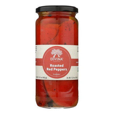 Divina Roasted Red Sweet Peppers