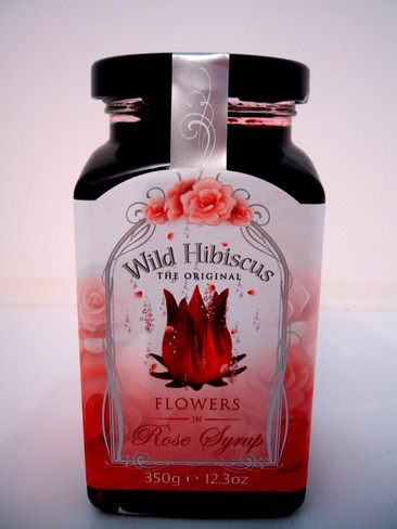 Wild Hibiscus in Rose Syrup