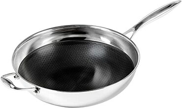 Black Cube Hybrid Stainless / Non-Stick 12.5 inch Wok