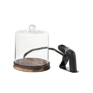 The Smoking Cloche w/ Handheld Smoker by Fortessa