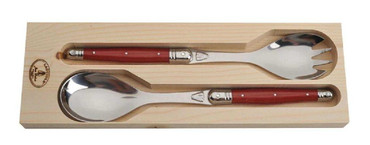 Salad Servers with Red Handles by Jean Dubost