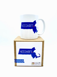 Massachusetts Love Needham Mug Royal