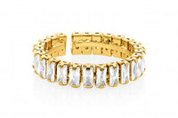 Lizas Gold Crystal Ring