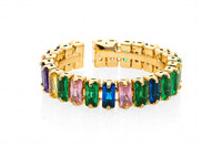 Lizas Multi Color Crystal Ring