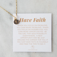 Intention Necklace Cross