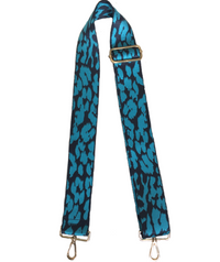 Turquoise/Navy Leopard Strap Gold