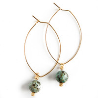 Lenny Earrings, African Turquoise