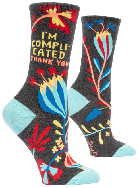 I'm Complicated. Crew Socks