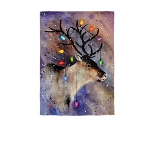 Reindeer and Lights, Garden Flag