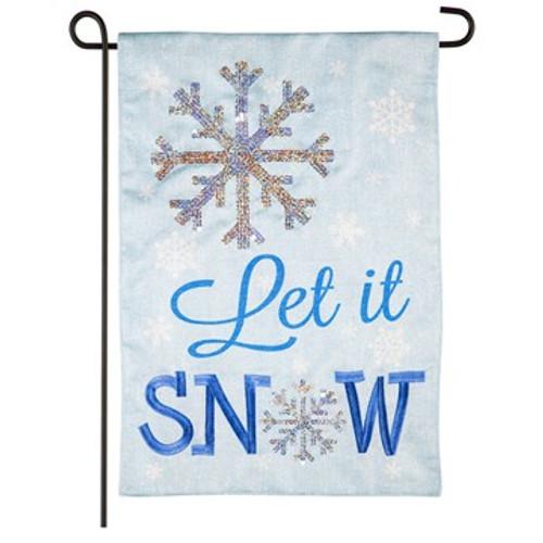 Shimmer Let It Snow, Garden Flag