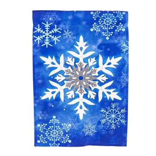 Winter Snowflakes, Garden Flag