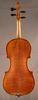 Antique German fractional sized violin, back.