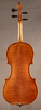 Antique German fractional sized violin, back.