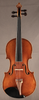Antique German fractional sized violin, front.