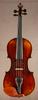 Antique German fractional sized violin, front.