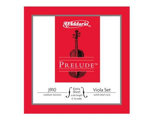 """D'Addario Prelude Set for Viola J910 - Extra Short 13"""" and under"""