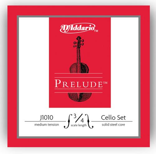 D'Addario Prelude Cello Strings Set - 3/4