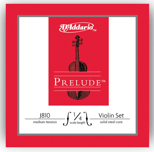 D'Addario Prelude Violin Strings Set - 1/4