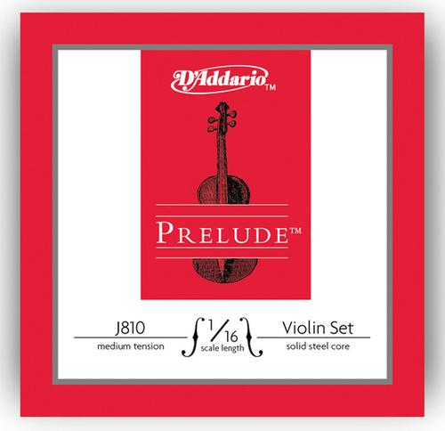 D'Addario Prelude Violin Strings Set - 1/16