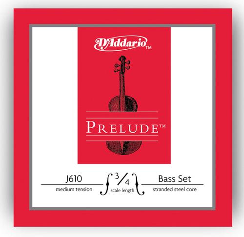 D'Addario Prelude Bass Strings Set - 3/4