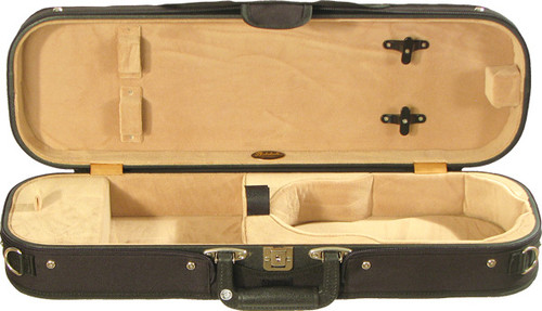 Bobelock Oblong Violin Case - Velour - Tan
