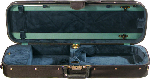 Bobelock Oblong Violin Case with Suspension - Velour - Green