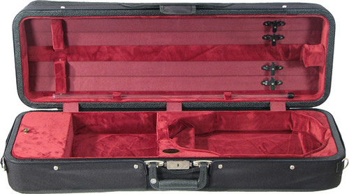 Bobelock Featherlite Oblong Violin Case - Velour - Wine