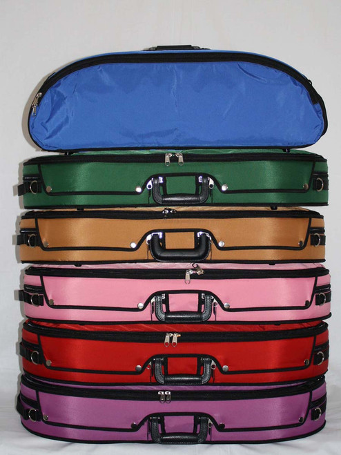 Bobelock Sport Puffy Moon Violin Case -Purple, Red, Pink, Gold, Green or Blue