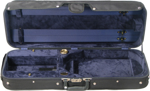 Bobelock Featherlite Oblong Adjustable Viola Case - Velvet - Blue